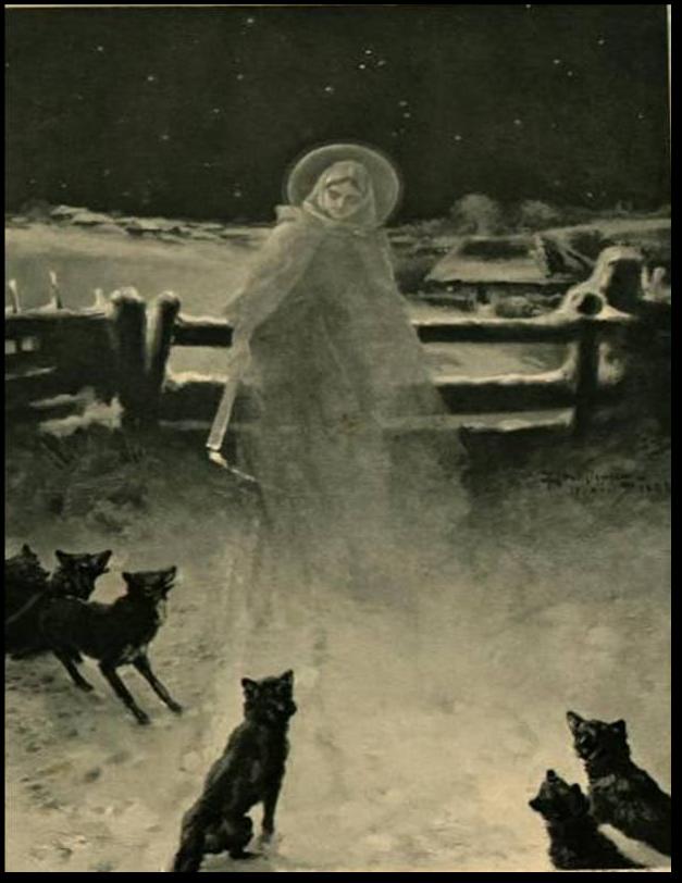 Matka Boża Gromniczna strzegła ludzkie siedziby przed stadami wilków. Mal. Piotr Stachiewicz