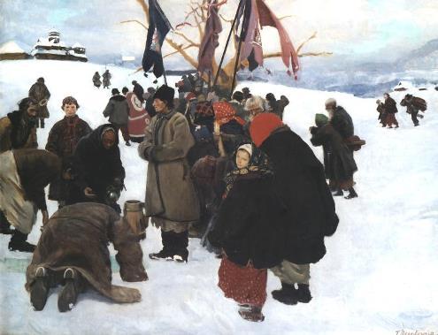 Święto Jordanu, obraz Teodora Axentowicza