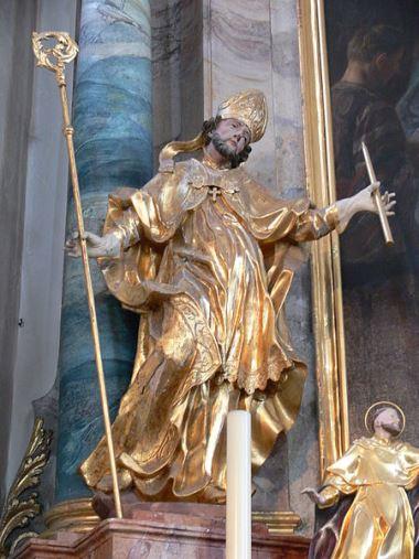 Rzeźba przedstawiająca św. Błażeja