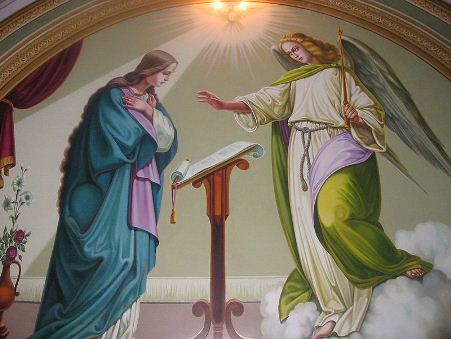 Fresk Zwiastowania NMP w katedrze w Tarnopolu