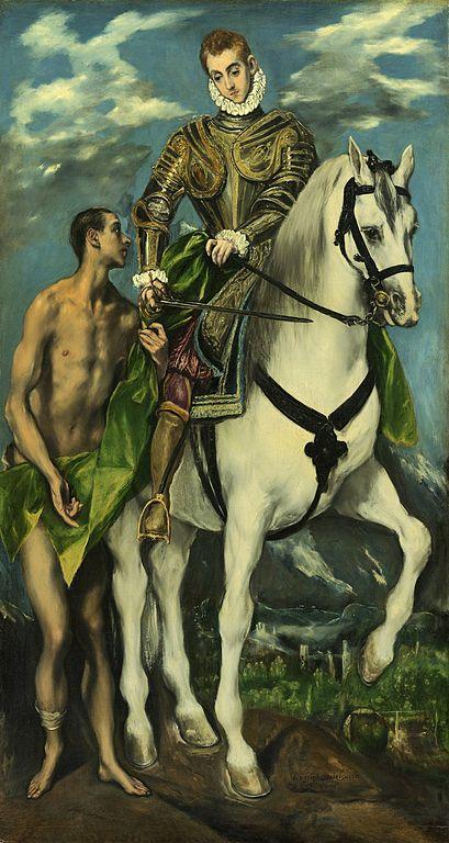 Św. Marcin, mal. El Greco (1597-1599)